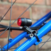 Dynamo powered rear light on a Surly Karate Monkey