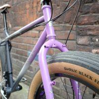 Custom Purple Surly Pugsley