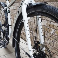 Custom bright white Surly Ogre